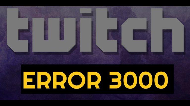 twitch error 3000