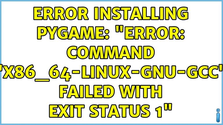error code: command 'x86_64-Linux-gnu-gcc' failed with exit status 1