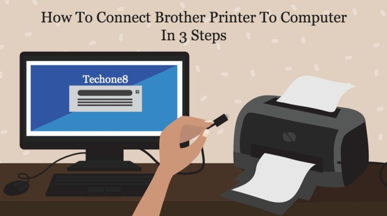 how to connect brother printer to computer