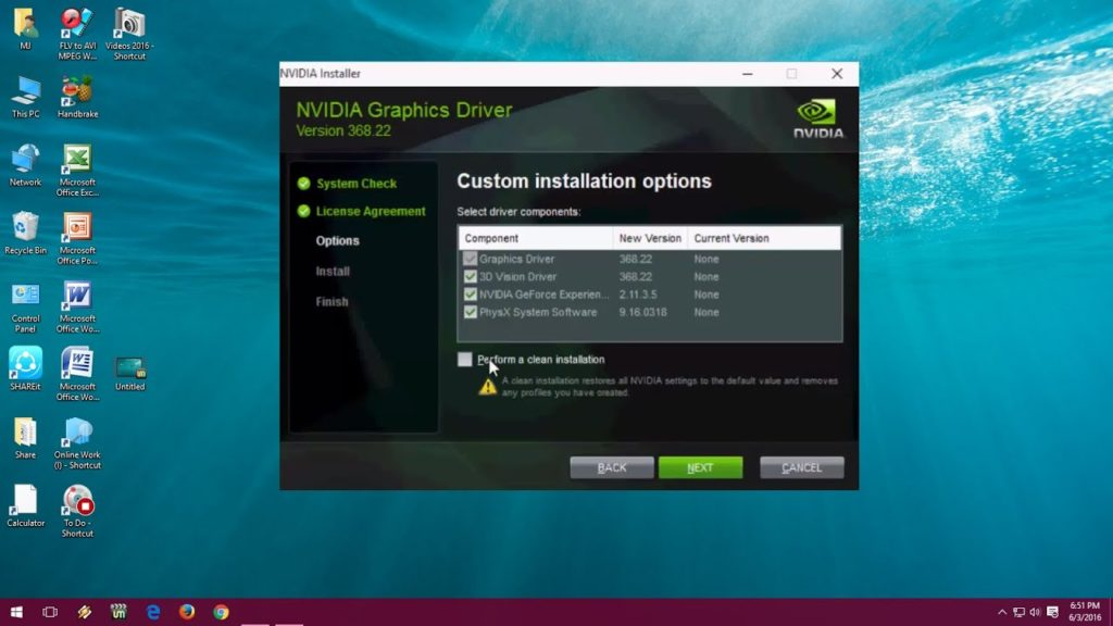 Install graphics drivers