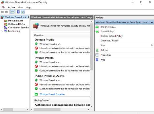 Accept the connections via Windows Firewall