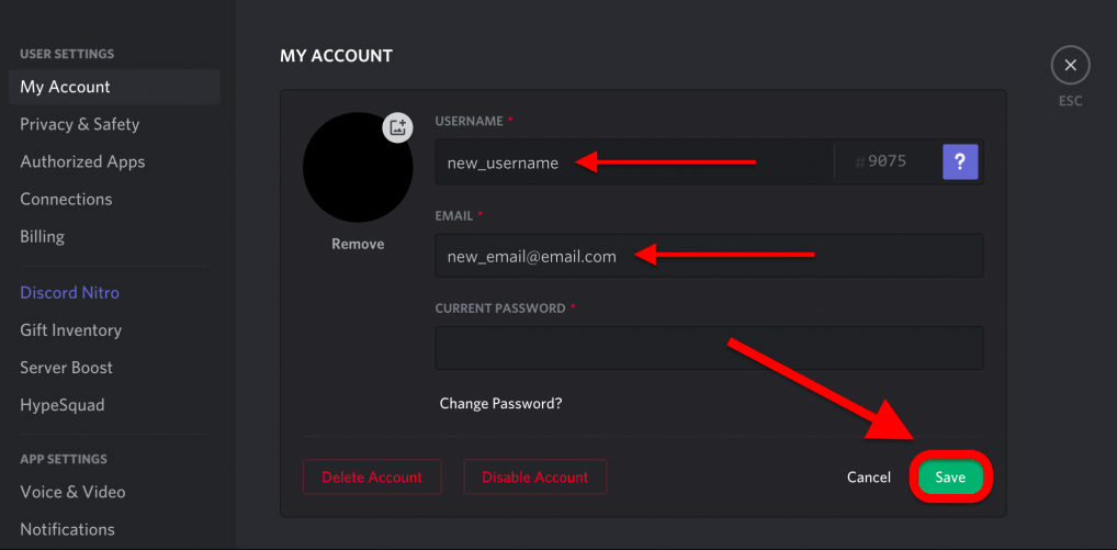 New Username