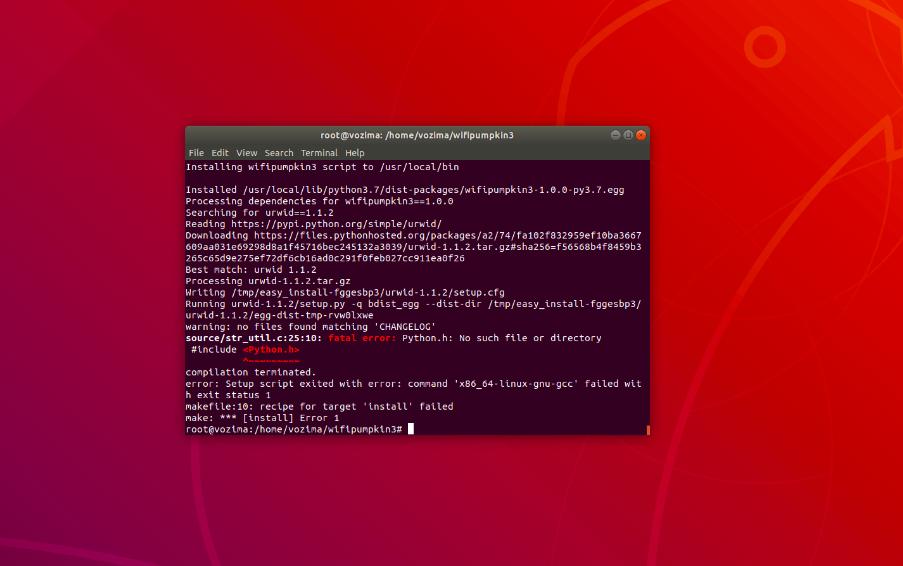 error code command 'x86_64-Linux-gnu-gcc