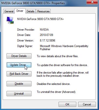 Upgrade the GPU drivers