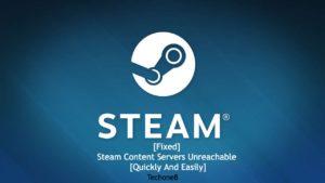 steam content servers unreachable