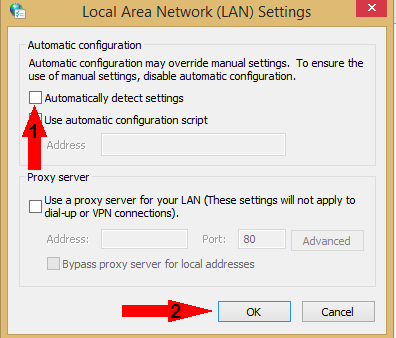 automatically detects the settings menu