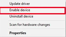 disable device option