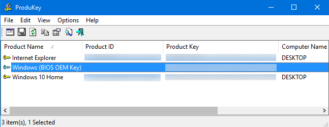Recover Keys from a Working Computer