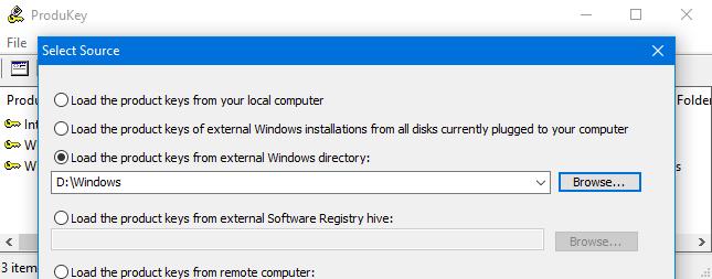 external Windows directory