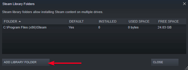 Change Steam and game files location
