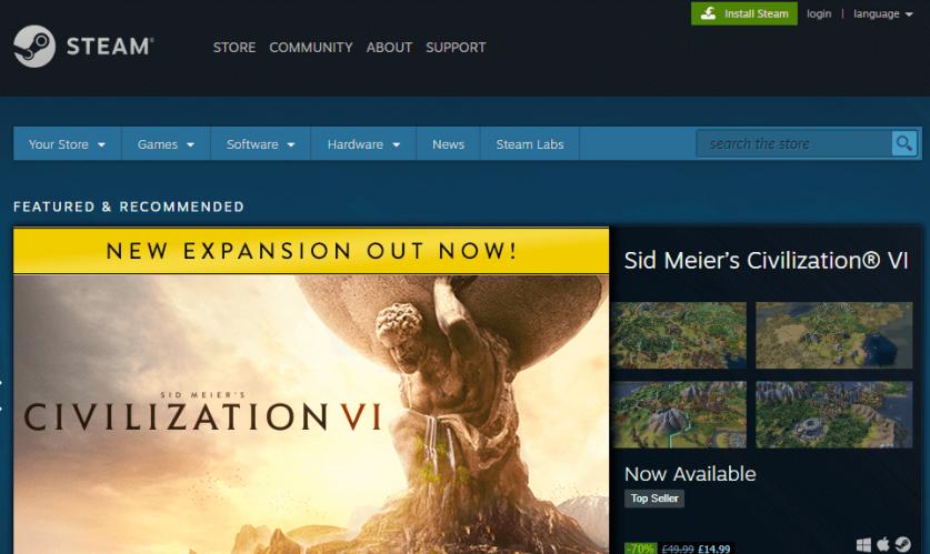 purchasing via the Steam website