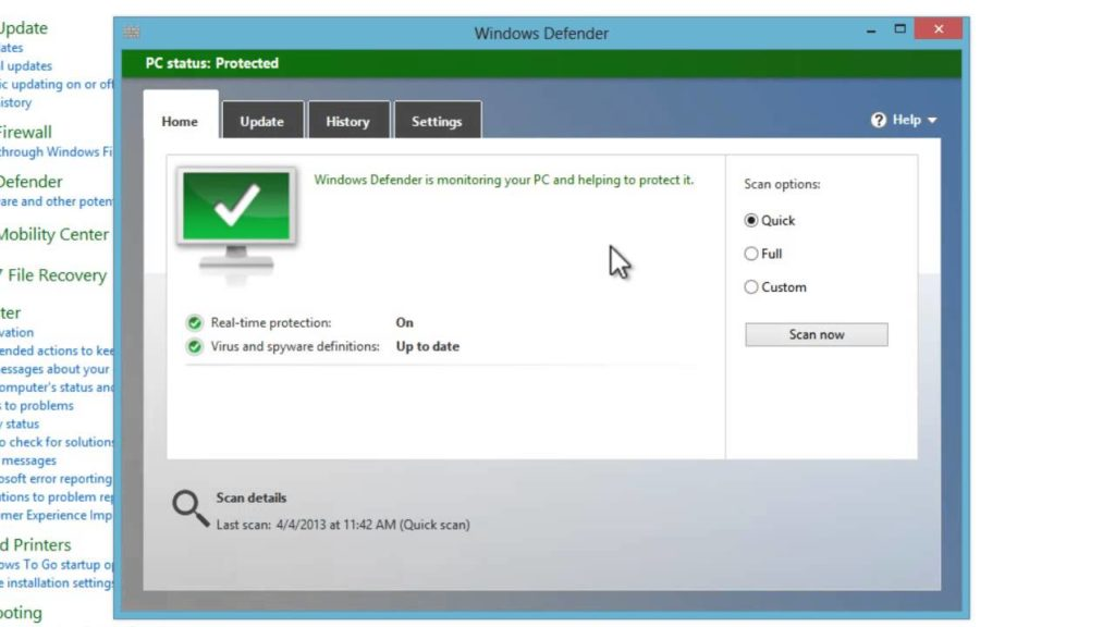 antivirus of your PC whether it is enabled or disable