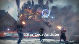 error code anteater