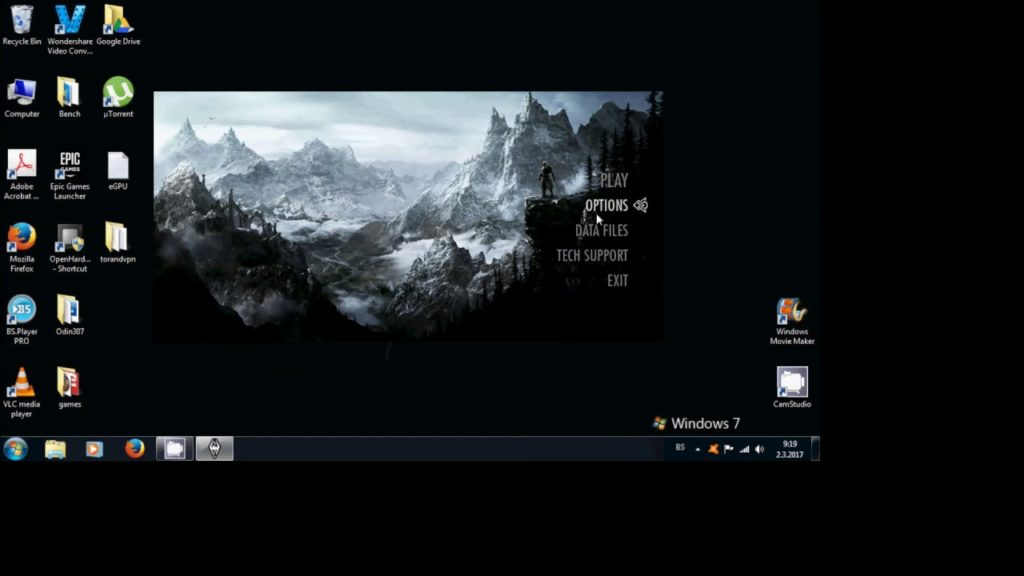 configure Skyrim to relate your computer's resolution