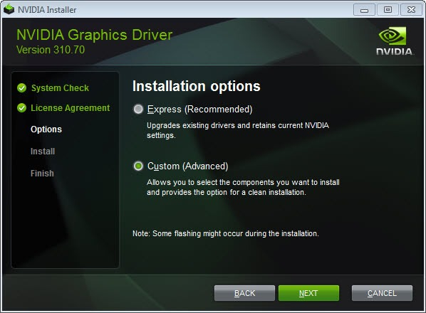 Upgrade the geforce display driver or wander to Beta release update