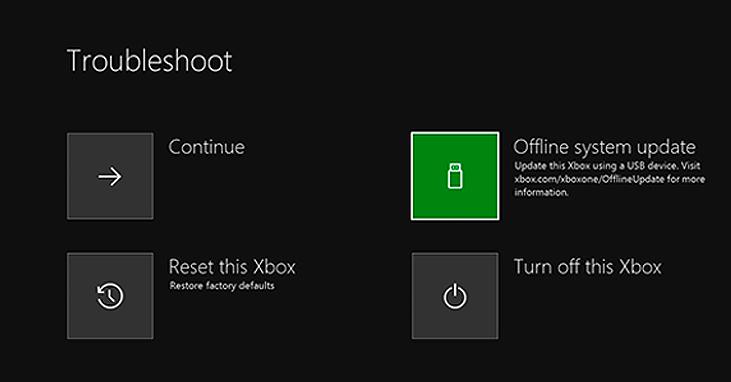error in Xbox