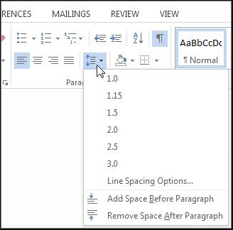 how to double space in word on mac