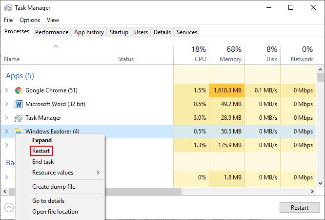 windows 10 start menu not working after update